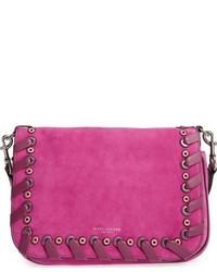 Marc Jacobs Courier Nubuck Leather Shoulder Bag Black