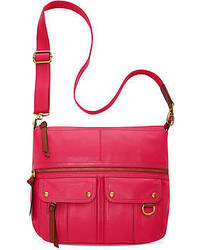 Fossil Morgan Leather Top Zip Crossbody