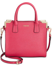 Calvin Klein On My Corner Saffiano Mini Crossbody Bag