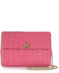 Roberto Cavalli Orchid Pink Quilted Leather Crossbody Wchain Strap