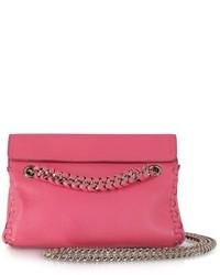 Roberto Cavalli Pompei Leather Crossbody Bag Wchain Strap