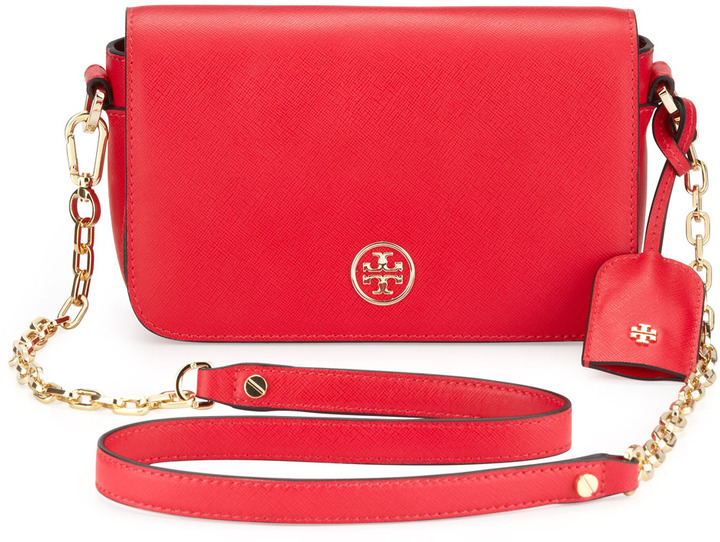 17e0d70e9fc ... Crossbody Bags Tory Burch Robinson Mini Chain Strap Bag Hot Pink ...