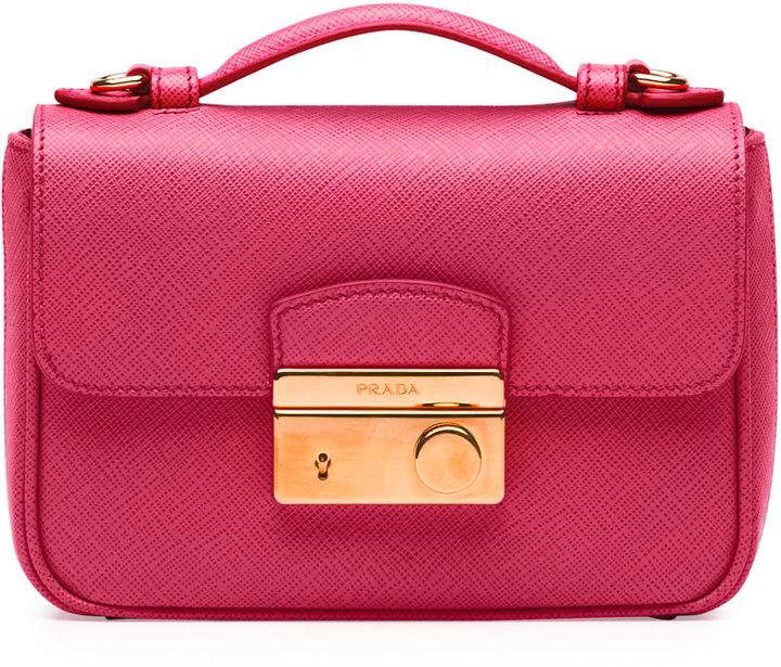 b9264e8fe3a6 ... Prada Saffiano Mini Crossbody Clutch Pink ...