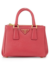 Prada Saffiano Mini Galleria Crossbody Bag Pink