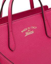 147025f749c ... Gucci Swing Mini Crossbody Bag Bright Pink ...