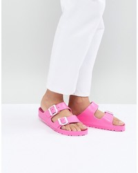 Birkenstock Arizona Eva Pink Flat Sandals
