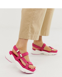 Stradivarius Chunky Py Sandals In Pink