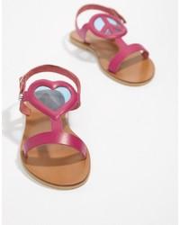 Love Moschino Heart Flat Sandals