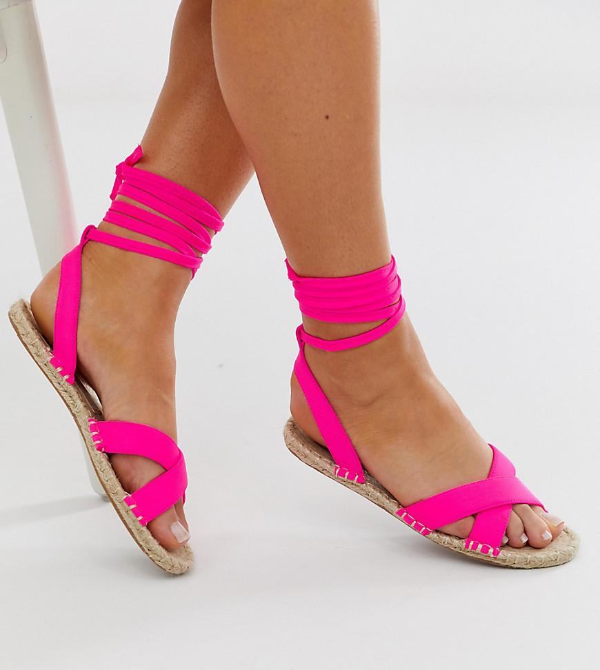 Wide Fit Jala Espadrille Flat Sandals