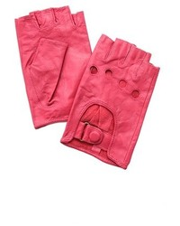 Hot Pink Leather Gloves