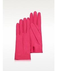 Hot pink unlined italian leather gloves medium 127293