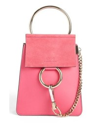 Hot Pink Leather Handbag