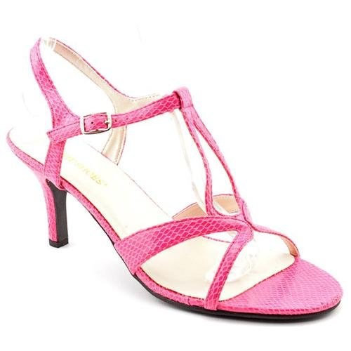 pink leather heeled sandals alana pink dress