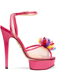 Barbie pomeline patent leather and mesh sandals pink medium 3649642