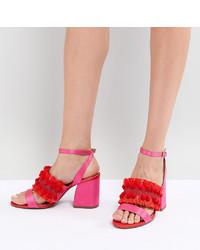 ASOS DESIGN Hot Cake Embroidered Block Heeled Sandals