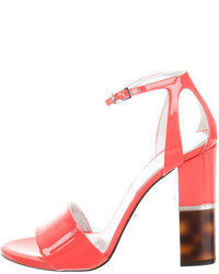 Roberto Cavalli Patent Leather Ankle Strap Sandals W Tags