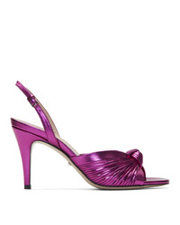 Gucci Pink Slingback Crawford Heeled Sandals