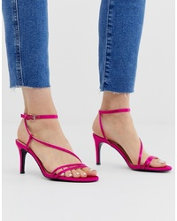 Stradivarius Py Skinny Sandals In Pink