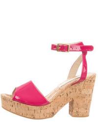 Stella McCartney Vegan Patent Leather Platform Sandals