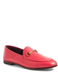 233d71844aa Women s Hot Pink Leather Loafers by Gucci