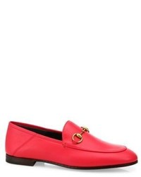 Gucci Brixton Foldable Leather Loafers