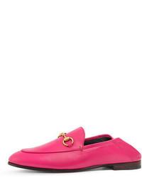 2babdc63092 Gucci Fuchsia Pink Brixton Leather Loafers  679 Free US Shipping! Gucci  Brixton Leather Horsebit Loafer