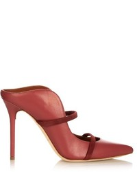 Hot Pink Leather Mules