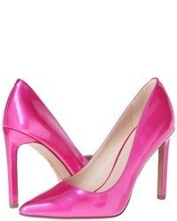Hot Pink Leather Pumps