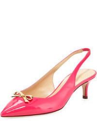 Kate Spade New York Salvia Patent Bow Slingback Lipstick Pink