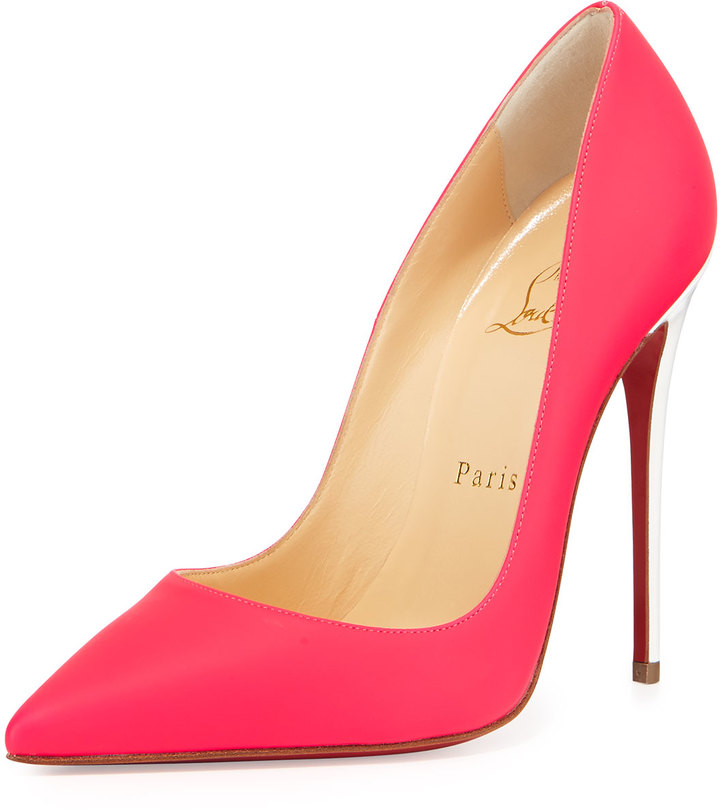 ... Pink Leather Pumps Christian Louboutin So Kate Matte Patent Red Sole Pump  Fuchsia ... 3ef32061b