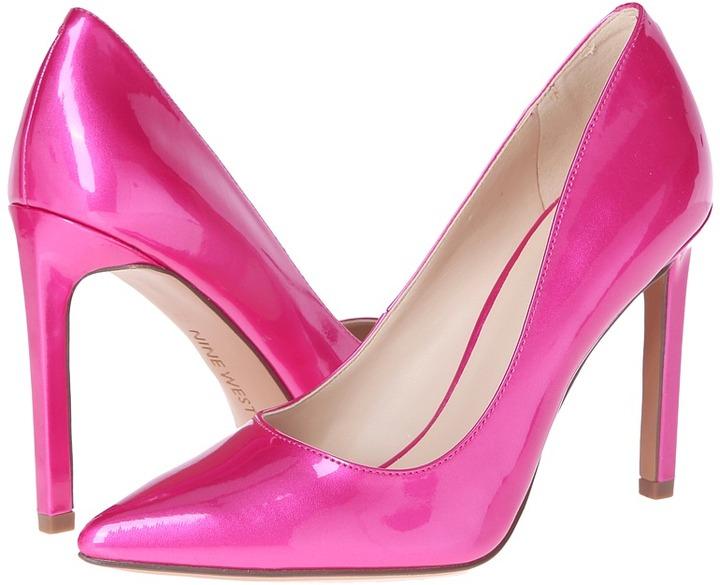 651d9174d2bd ... Pink Leather Pumps Nine West Tatiana Pump High Heels ...
