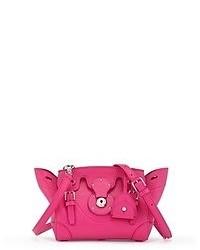 Hot Pink Leather Satchel Bag