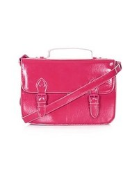 Topshop Double Buckle Satchel Pink