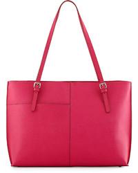 Hobo Annalisa Paneled Saffiano Tote Bag Pink