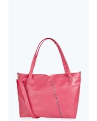 Boohoo Ruby Zip Detail Shopper Bag
