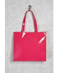 Forever 21 Faux Patent Leather Tote Bag