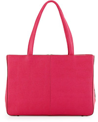 Hobo Morena Saffiano Extended Zip Tote Bag Pink