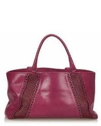Bottega Veneta Pre Owned Rugiada Leather Tote Bag