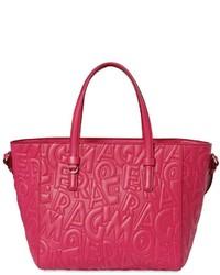 Salvatore Ferragamo Small Embossed Leather Tote Bag