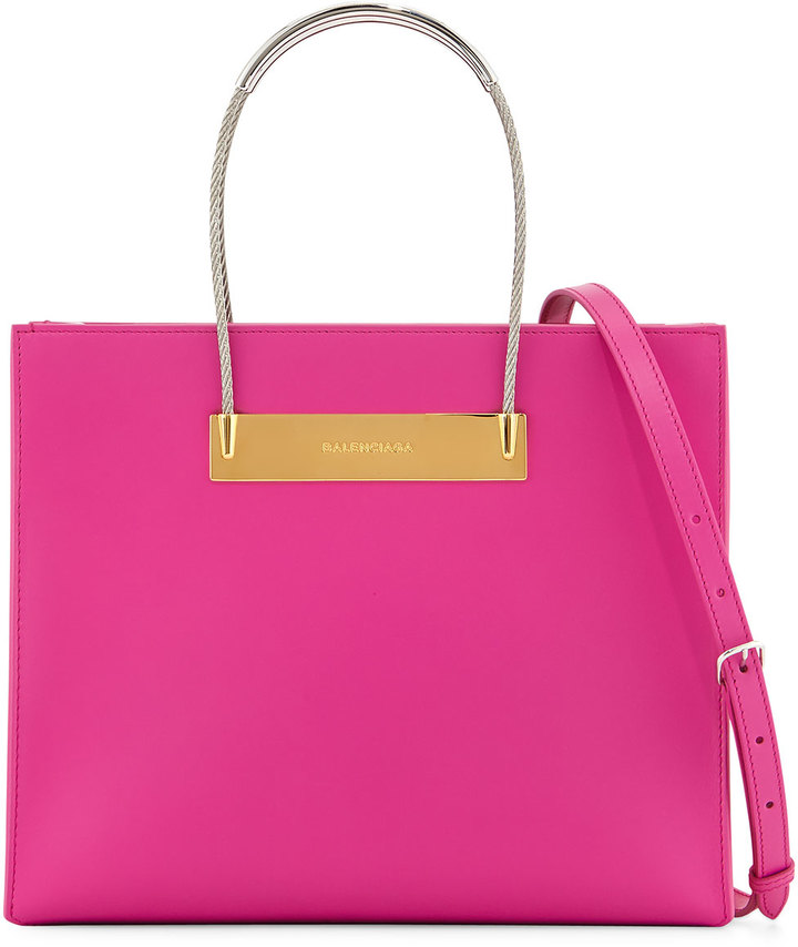 Balenciaga Small Cable Per Bag With Strap Hot Pink