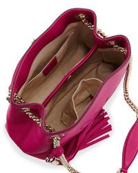 c70dba6fc4c0 Gucci Soho Small Leather Tote Bag W Chain Straps Bright Pink, $1,250 ...