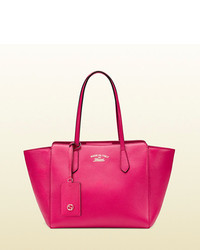470740c1b2fdc1 Women's Hot Pink Leather Tote Bags by Gucci | Women's Fashion ...