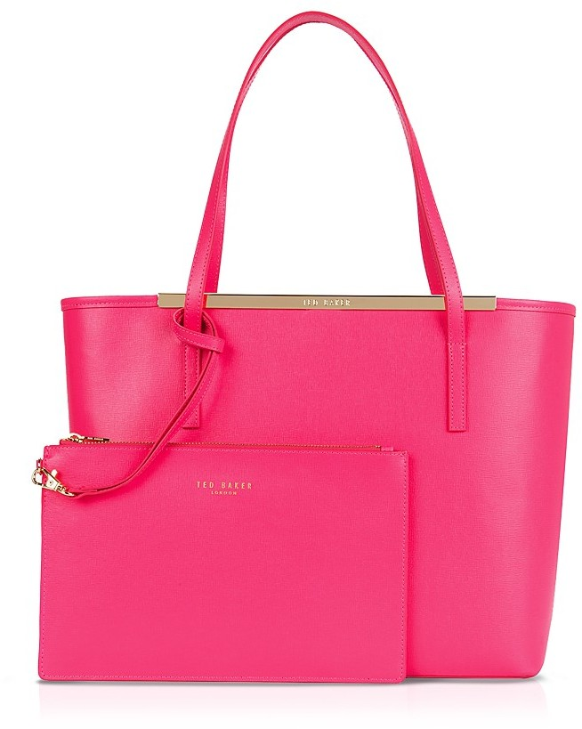 50c46821e11ace ... Hot Pink Leather Tote Bags Ted Baker Tote Isbell Crosshatch Shopper ...