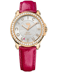 Hot Pink Leather Watch