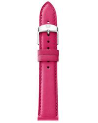 Michele 16mm Calfskin Watch Strap Sea Pink