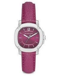 Burberry Britain Stainless Steel Leather Strap Watchtulip