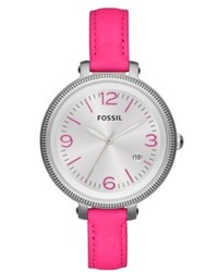 Fossil Watch Heather Pink Leather Strap 42mm Es3277