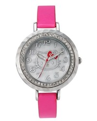 Hello Kitty Watch Pink Leather Strap 34mm H3wl1019pk