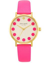 Kate Spade New York Bazooka Pink Dot Metro Watch