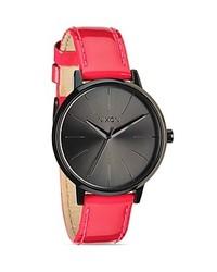 Nixon The Kensington Pink Patent Leather Strap Watch 37mm